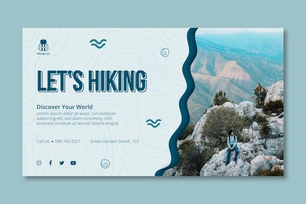 Modello di banner per escursionismo