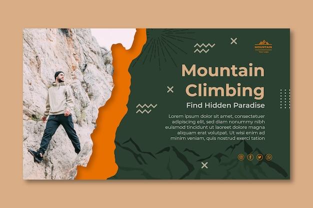 Escursionismo banner orizzontale modello