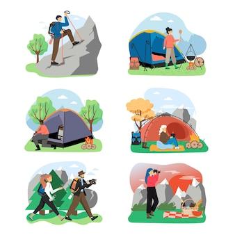 Set scena escursionistica