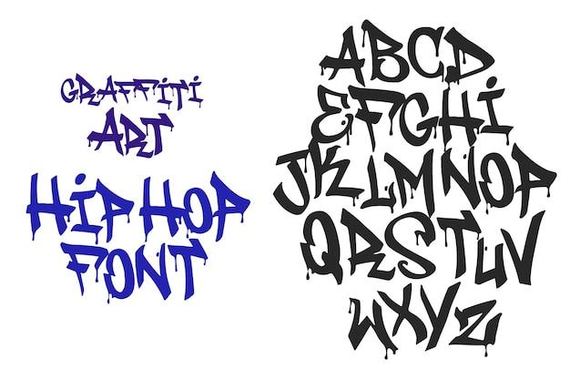 Tipo di hip hop design grafitti