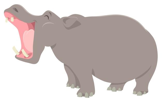 Ippopotamo divertente personaggio animale