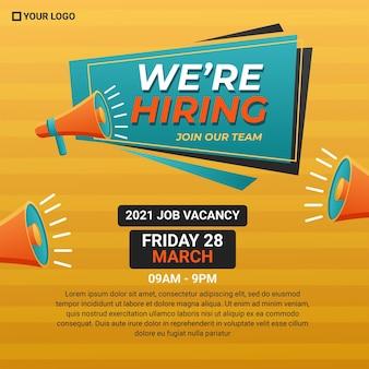 Poster di reclutamento.