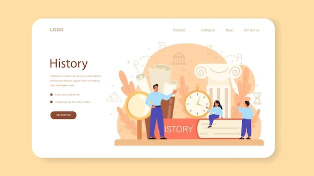 Modello web di storia o pagina di destinazione.