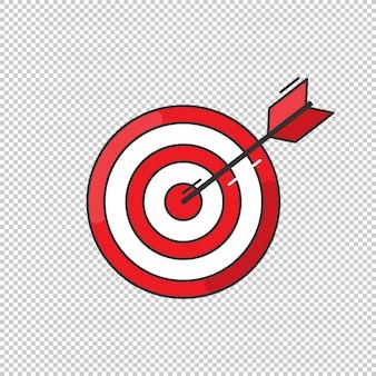 Colpire l'illustrazione piana di vettore del fumetto dell'obiettivo. eps 10