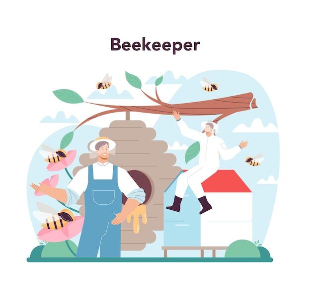 Concetto di alveare o apicoltore