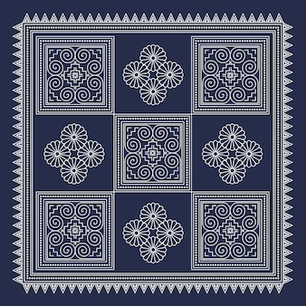Sfondo geometrico hmong 2