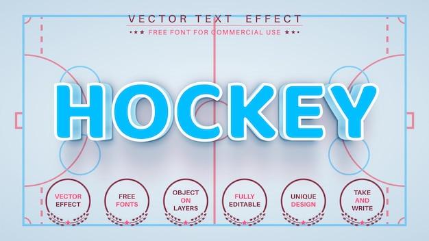 Hockey modifica lo stile del carattere dell'effetto del testo