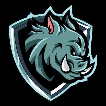 Illustrazione del logo di hog esport