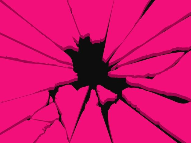 Buco nel muro. foro rotto. illustrazione vettoriale eps10