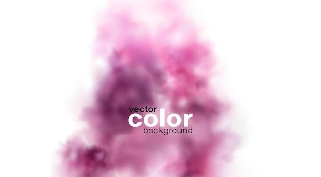 Elemento di progettazione della nuvola della spruzzata della polvere rosa di colore brillante astratto di festa