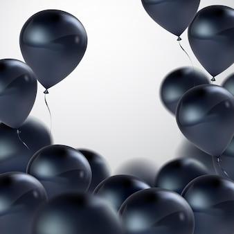 Estratto di festa con palloncini neri