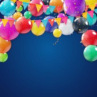 Sfondo vacanza con palloncini.