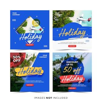 Modello di post di instagram per le vacanze