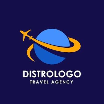 Modello di logo di agenzia di viaggi e vacanze