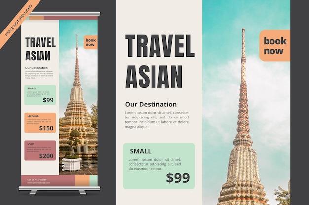 Design di banner roll up per viaggi di vacanza