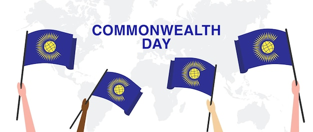 Festa dell'unità e della sicurezza giorno del commonwealth giorno festivo del calendario Vettore Premium