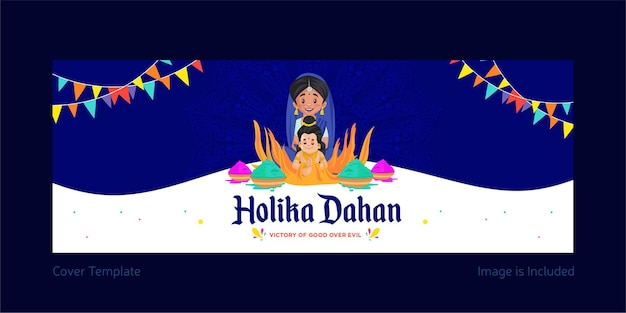 Holika dahan copertina di facebook design
