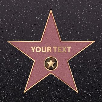 Star celebrità di hollywood celebrità sul viale a piedi strada.