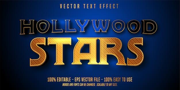 Effetto di testo modificabile di stelle di hollywood