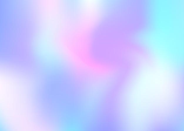 Fondo astratto dell'ologramma. elegante sfondo in rete sfumata con ologramma. stile retrò anni '90 e '80. modello grafico perlescente per banner, flyer, copertina, interfaccia mobile, app web.