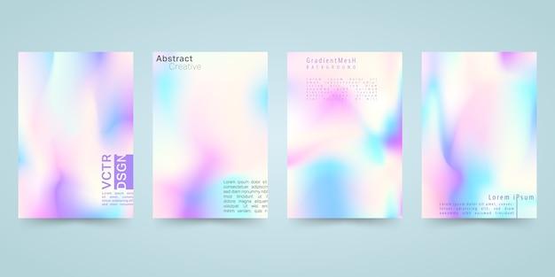 Set di sfondo colorato luminoso ologramma