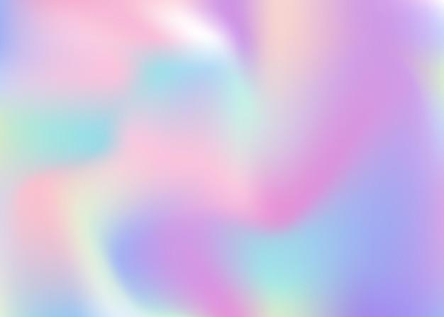 Sfondo astratto olografico. fondale olografico minimale con maglia sfumata. stile retrò anni '90 e '80. modello grafico perlescente per brochure, banner, carta da parati, schermo mobile.