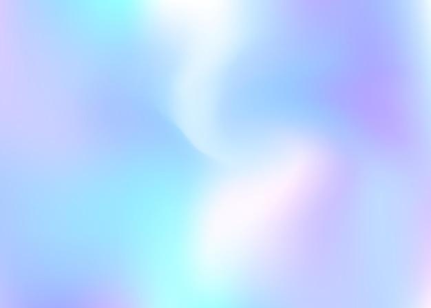 Sfondo astratto olografico. sfondo olografico spettro con maglia sfumata. stile retrò anni '90 e '80. modello grafico perlescente per libro, annuale, interfaccia mobile, app web.