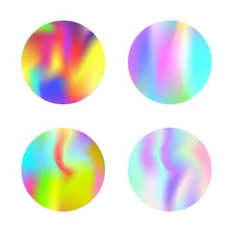 Set di sfondi astratti olografici.