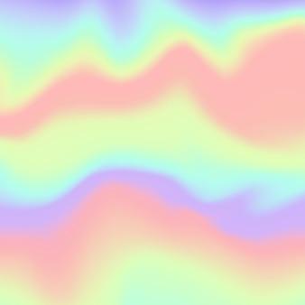 Gradiente sfocato di sfondo olografico. modello di disegno astratto olografico vettoriale per ologramma.