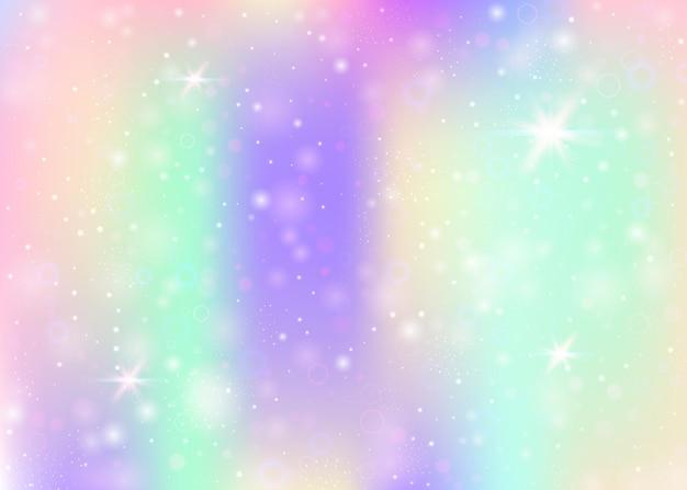 Sfondo olografico con maglia arcobaleno.