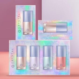 Smalto per unghie beauty olografico o iridescente