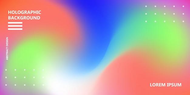 Struttura iridescente di vettore del fondo dell'arcobaleno olografico