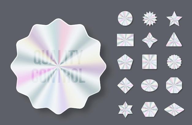 Adesivi olografici etichette olografiche di diverse forme