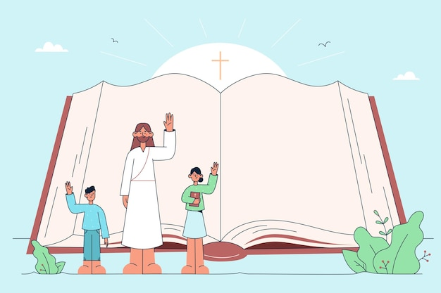 Sacra bibbia, cristianesimo, concetto di religione