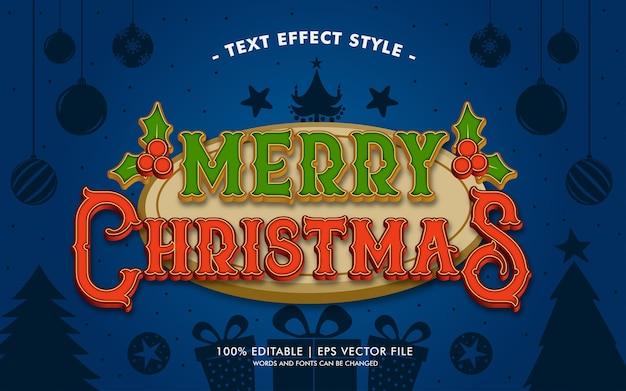 Stile di effetti del testo di holy merry christmas