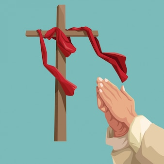 Tradizione cattolica della settimana santa Vettore Premium
