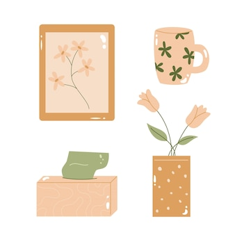 Set da collezione di accessori per la casa