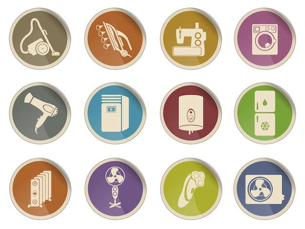Set di icone vettoriali di elettrodomestici