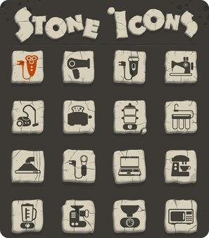 Icone vettoriali di elettrodomestici per il web e la progettazione dell'interfaccia utente