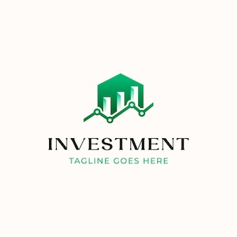 Home building logo grafico logo investimento modello isolato in sfondo bianco