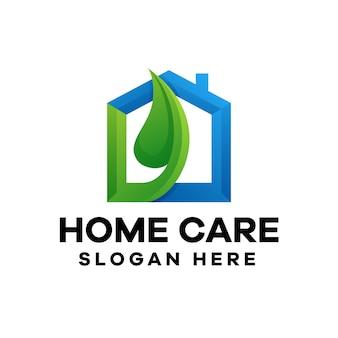 Design del logo sfumato per l'assistenza domiciliare