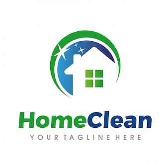 Logo servizi di pulizia e pulizia della casa