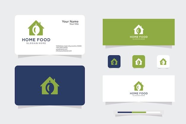 Design del logo cibo cucina casalinga con lo chef e la forma della casa illustrazione vettoriale della grafica dell'icona del ristorante.