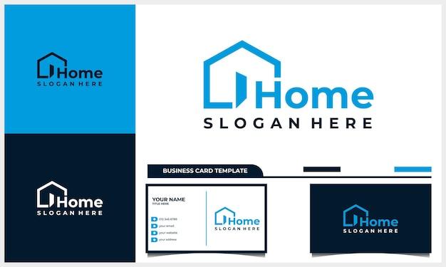 Concetto di simbolo creativo domestico. porta aperta, edificio entra, logo aziendale dell'agenzia immobiliare