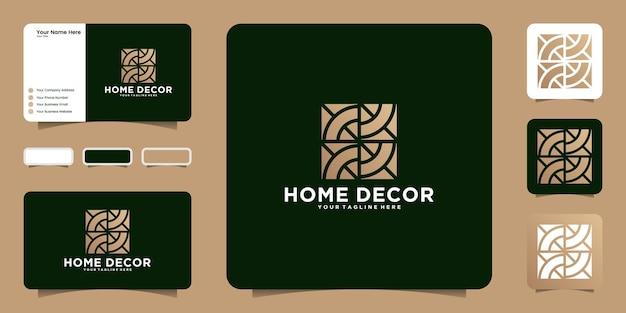 Logo geometrico e biglietto da visita per decorazioni per la casa
