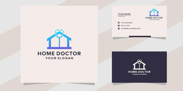 Modello di logo del medico di casa