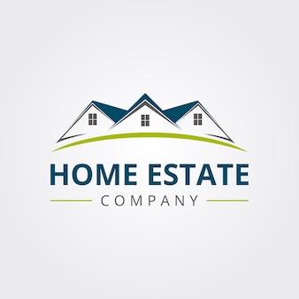 Icona di logo di casa immobiliare con stile moderno
