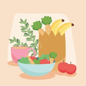 Icone del cibo di casa