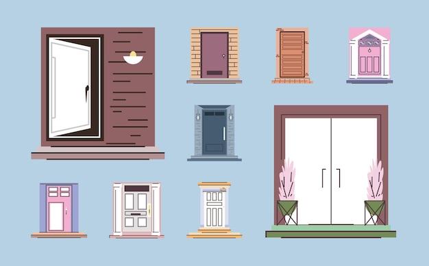Porte d'ingresso di casa