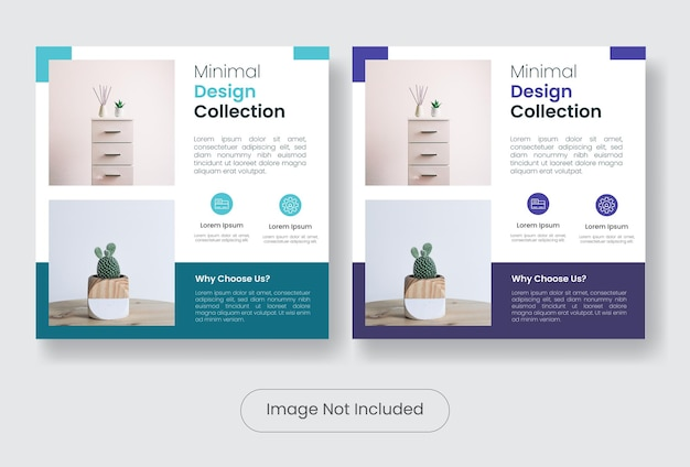 Design di mobili per la casa social media post banner modello post set